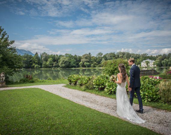 Garten, Hochzeit, Brautpaar